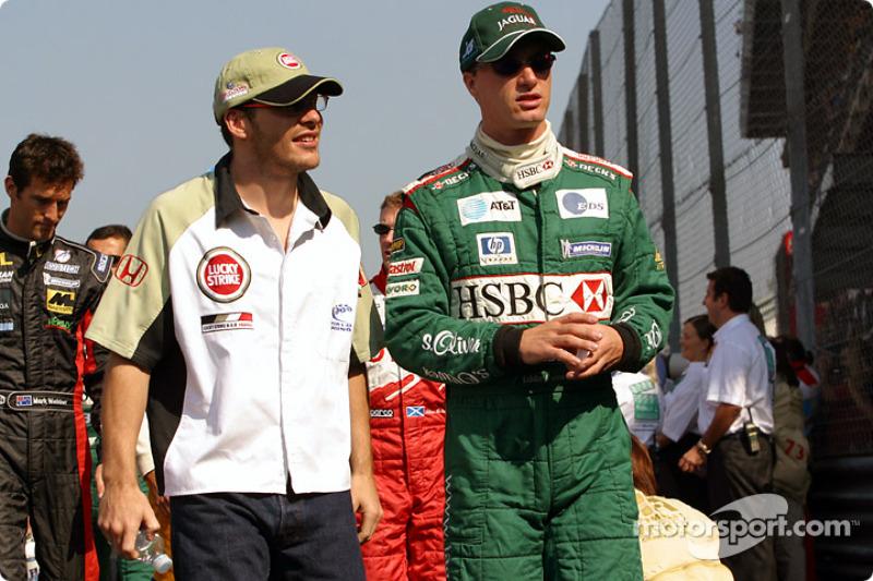 Jacques Villeneuve and Eddie Irvine