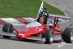 Race winner Jamie Bach