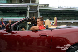 Michael Schumacher in the Maserati Spyder