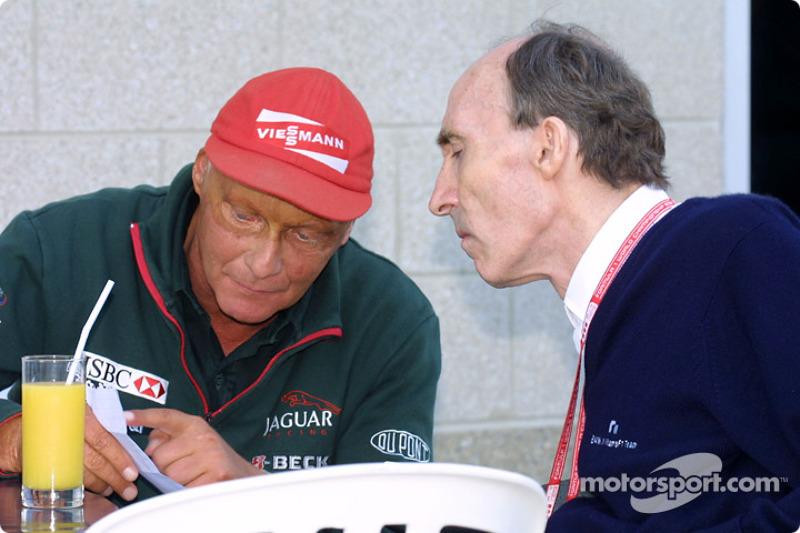 Niki Lauda y Frank Williams