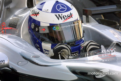 David Coulthard on the starting grid