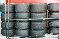 Stacks of tires
