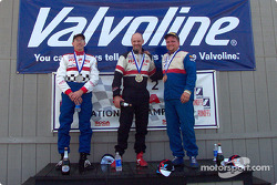 The podium: race winner Mark Jaremko with Michael Reupert and Damon Anderson