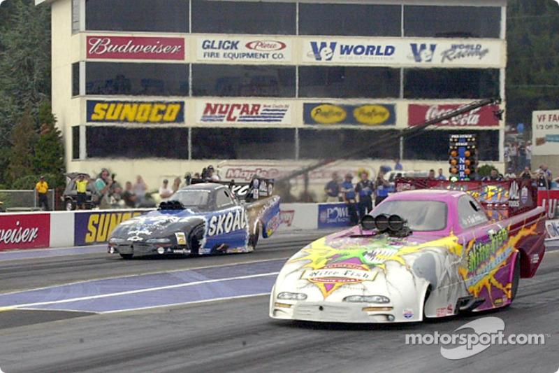 Tommy Johnson flies past Paton's dead car