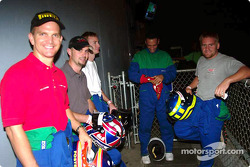 Special Olympics charity fund-raiser: Joe Foster, Ben Devlin with drivers
