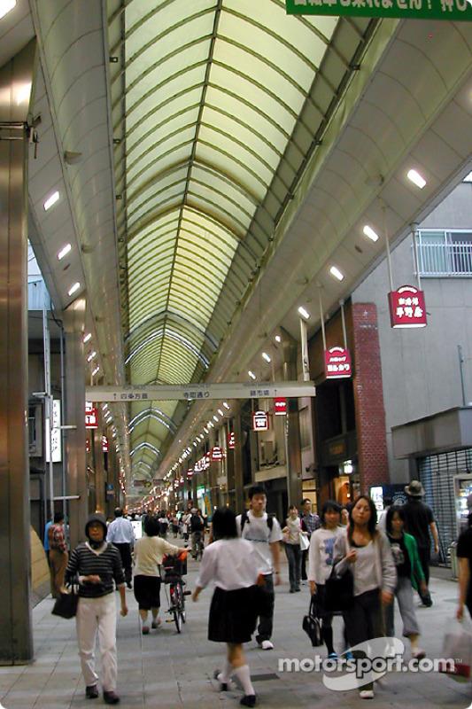 Teramachi-dori cubierto, calle de compras en Kyoto