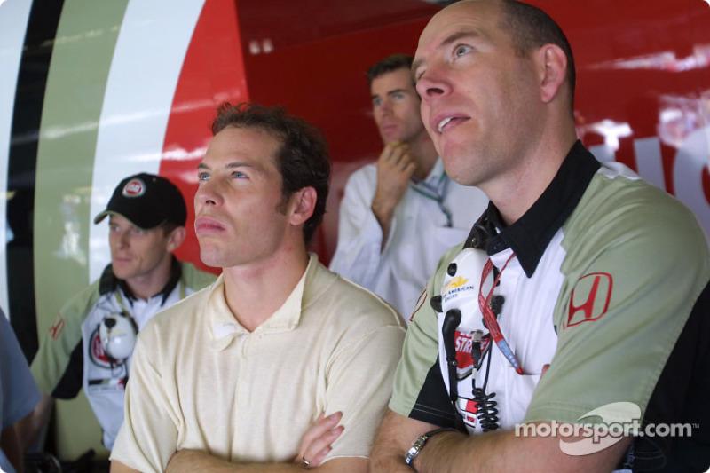 Anthony Davidson, Jacques Villeneuve and Jock Clear