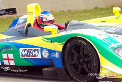 Christian Vann heads for the starting grid