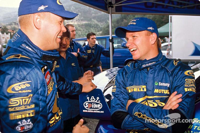 Kaj Lindstrom y Petter Solberg