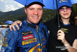 Tommi Makinen with a Subaru girl