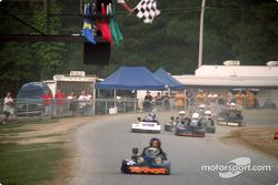 #31-Jarrett Dove takes Robinson Speed Shop Briggs Super Heavy's checkered flag