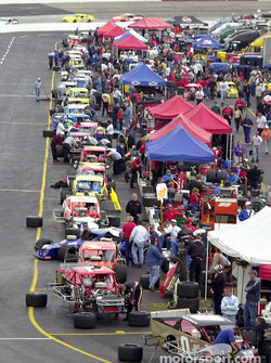 The Modifieds lined up in the pit