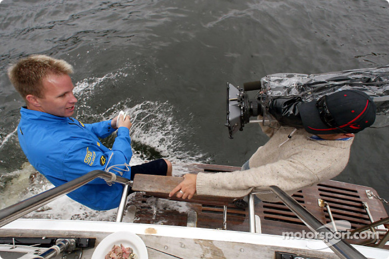 Petter Solberg en el Río Swan