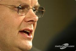 Richard Parry Jones, vicepresidente del grupo en desarrollo de producto y jefe de Fórmula Uno