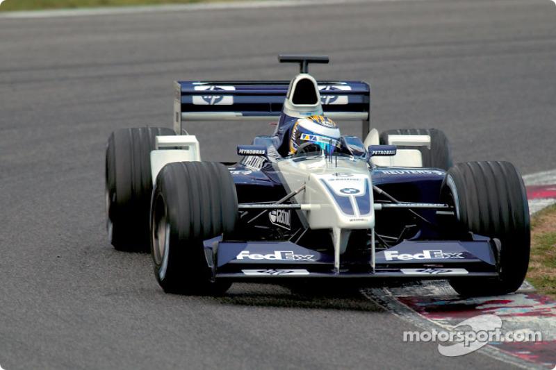 Dezember 2002: 1. Formel-1-Test für Williams