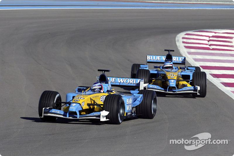 Jarno Trulli and Fernando Alonso
