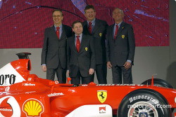 Jean Todt, Paolo Martinelli, Rory Byrne and Ross Brawn