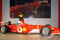 Rory Byrne with the new Ferrari F2003-GA