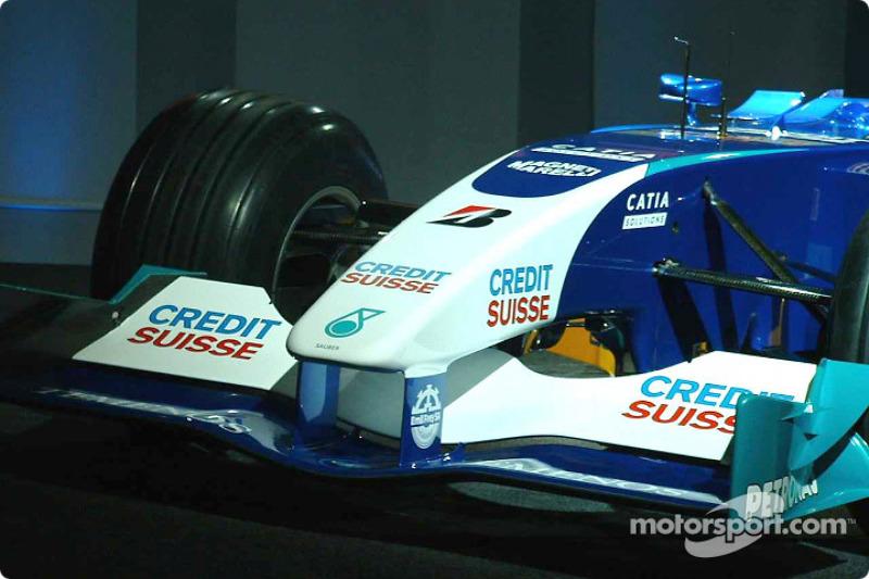Detail of the new Sauber Petronas C22