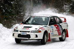 The team of Sylvain and Phillip Erickson won the first round of the 2003 Canadian Rally Championship on Saturday at Maniwaki, QuÈbec
