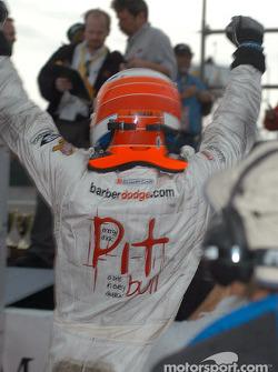Race winner Leonardo Maia