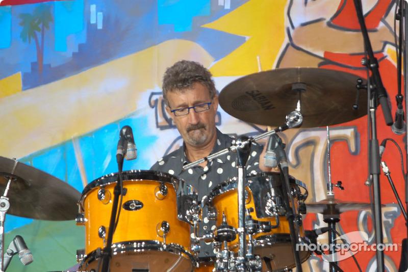 Eddie Jordan on drums at the Grand Prix Ball
