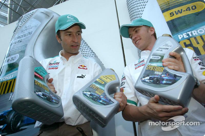 Heinz-Harald Frentzen and Nick Heidfeld