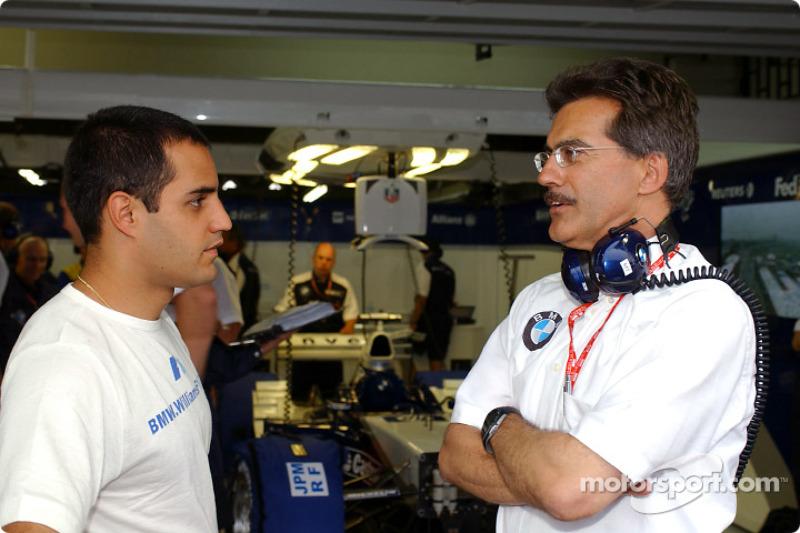 Juan Pablo Montoya and Mario Theissen