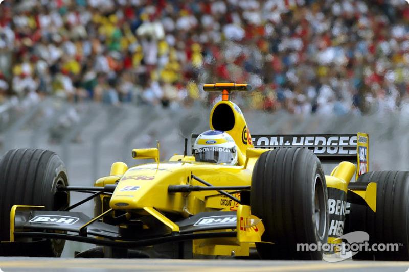 Ganador del GP de Brasil 2003: Giancarlo Fisichella, Jordan