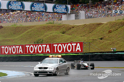Kimi Raikkonen behind the safety car