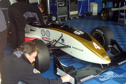 Jamie Green's repaired car
