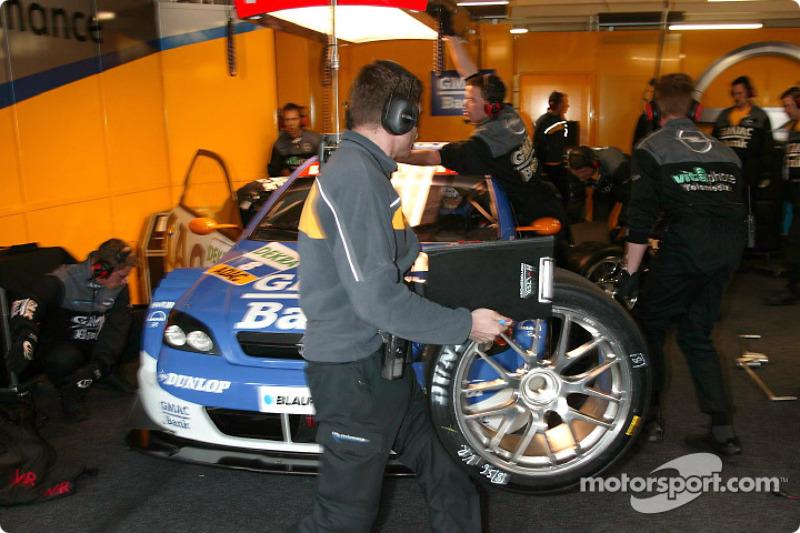 Alain Menu in the garage area