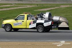 Simple Green blower truck