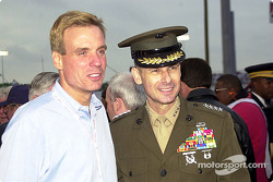 Mark Warner, Virginia's governor, and General Peter Pace, Vice Chairman of the Joint Chiefs of Staff