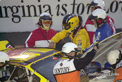 Steve Park safely gets out of the car and…