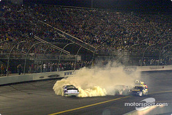 Jimmie Johnson goes for a spin