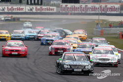 The start: Marcel Fassler leads the field