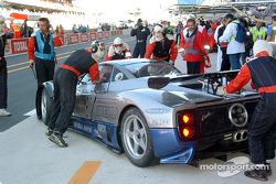 #61 Carsport America Pagani Zonda: Mike Hezemans, Anthony Kumpen, David Hart