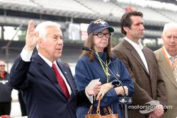 Senator Richard Lugar, Mari Hulman George and Tony George