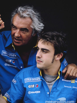 Flavio Briatore and Fernando Alonso