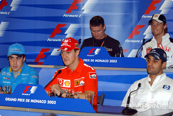 Wednesday FIA press conference: Fernando Alonso, Michael Schumacher, Juan Pablo Montoya, David Coulthard and Jenson Button