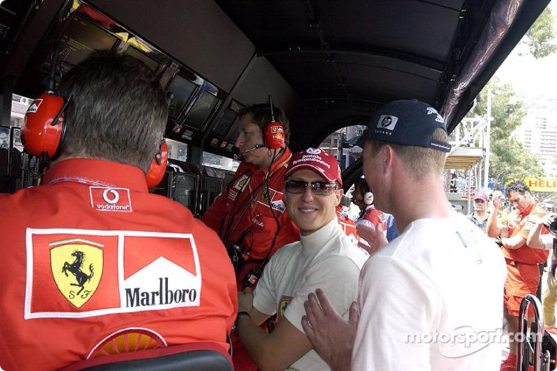 Michael Schumacher et son frère Ralf
