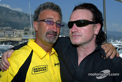 Eddie Jordan and Bono