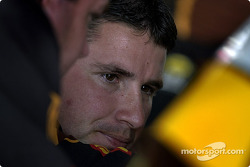 Crew chief Shawn Parker listens to Dale Jarrett