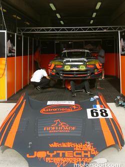 #68 Scorp Motorsport pit area