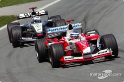 Olivier Panis and David Coulthard