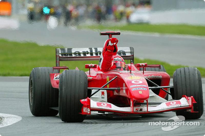 8º Michael Schumacher - 18 carreras - De San Marino 2003 a España 2004 - Ferrari