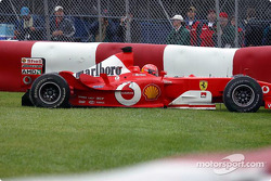 Michael Schumacher spins