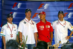 Thursday FIA press conference: Nick Heidfeld, Ralf Schumacher, Michael Schumacher and Heinz-Harald Frentzen