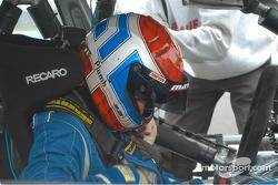 Hugh Plumb in the BMW